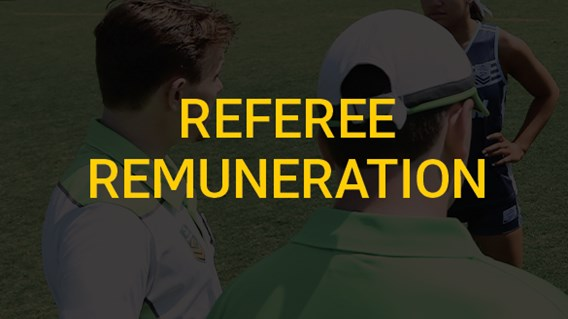 Referee Remuneration