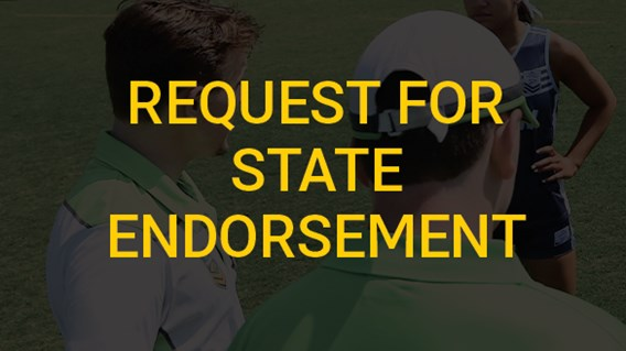 Request for State Endorsement